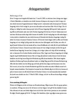Arbogamorden | Utredande text
