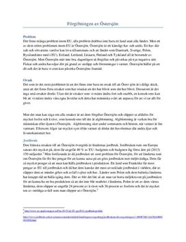 Miljöproblemen i Östersjön | Fördjupningsuppgift