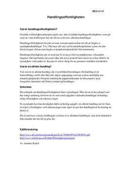 Handlingsoffentligheten | Sammanfattning