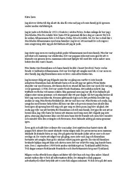 Förintelsen: Min berättelse | Brev
