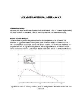 Volymen av en palsternacka | Inlämningsuppgift