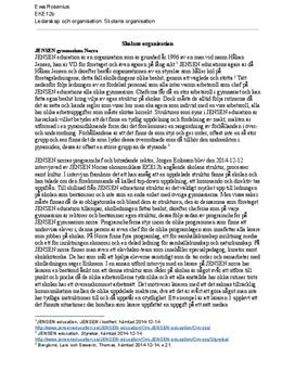 Skolans organisation: Jensen Education | Fördjupningsuppgift