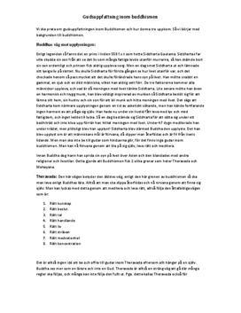 Gudsuppfattningen i buddismen | Utredande text