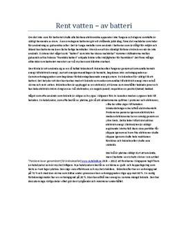 Framtidens batteri | Utredande text