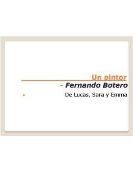 Fernando Botero   Presentation