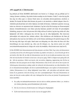 APL uppgift: Äldreboende | Rapport