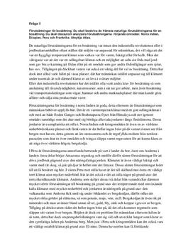 Bosättningar, jordbrukssamhälle och industrisamhälle | Sammanfattning