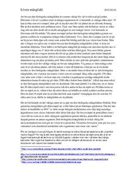Biologisk mångfald | Sammanfattning