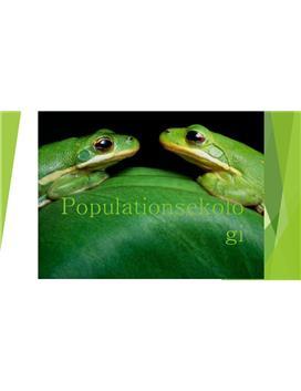 Populationsekologi  Presentation