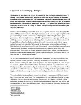 Legalisera aktiv dödshjälp | Debattartikel