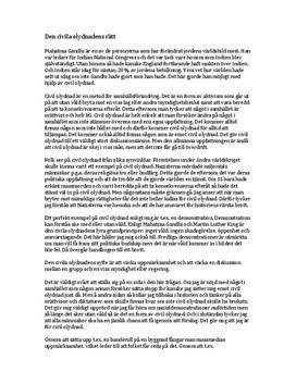 Civil olydnad | Rätt eller fel | Diskuterande text