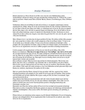 Plutonen | Ledarskap | Analys