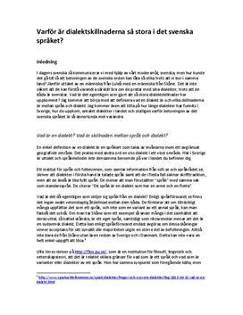 Skillnader mellan dialekt och språk | Dialekter i Sverige | Utredande text