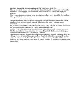 Artemisia Gentileschi | Sammanfattning