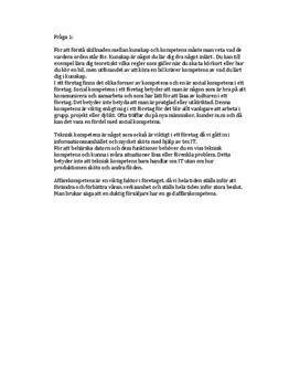 Kunskap, Kompetens, Personal och Företagskultur | Inlämningsuppgift