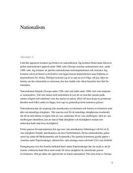 Nationalism: Nationalstater, imperialism & rasism | Fördjupningsarbete