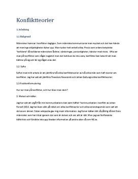 Konfliktteorier av Theodore Newcomb och Johan Galtung | Jämförelse