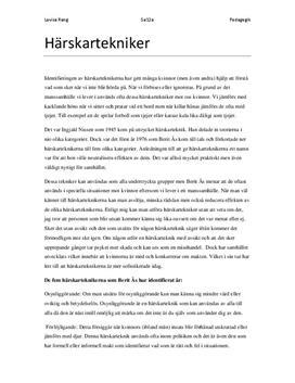 Härskartekniker | Sammanfattning