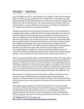 Autism: Fallstudie | Utredande text