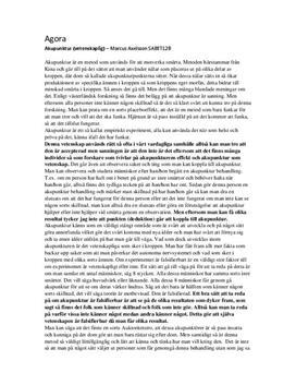 Akupunktur - vetenskap eller ej? | Utredande text