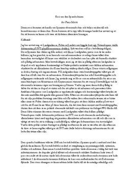 Essä om den Spanska krisen 2008-2012