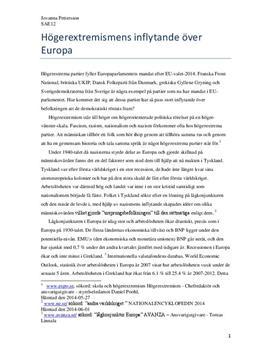 Högerextremistisk våg i Europa | Utredande text