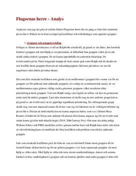 Grupputveckling och kommunikation i Flugornas Herre | Analys