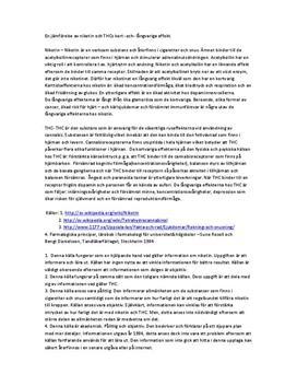 Nikotin och TCH | Jämförelse