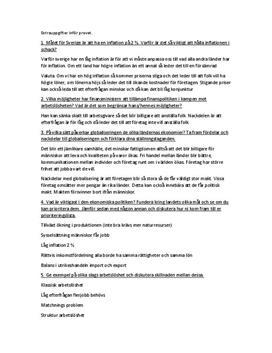 Samhällsekonomi   Frågor och svar