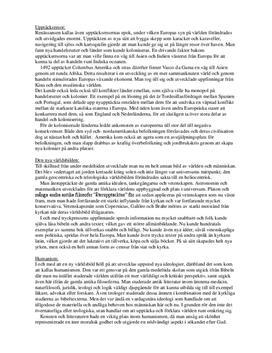 Renässansen: Upptäcksresor, humanism, reformation | Fördjupningsuppgift