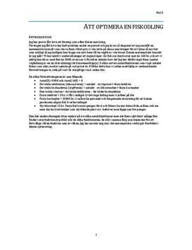 Optimera fiskodling | Inlämningsuppgift