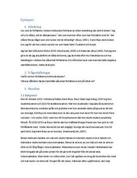 Kallocain & Metro 2033 | Jämförelse