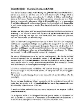 Marknadsstrategi: Blomsterbutik - AIDAS |Fördjupningsuppgift