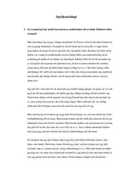 Språksociologi: Variationer och attityder | Frågor och svar