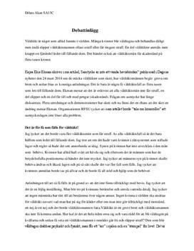 Ändra våldtäktslagstiftningen | Argumenterande text