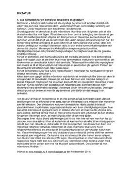 Demokrati, diktatur och mänskliga rättigheter | Frågor och svar
