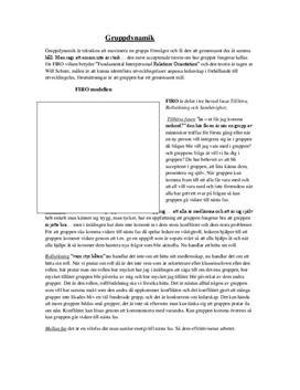 FIRO-modellen | Sammanfattning