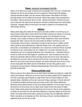 Platon och Descartes ochThe Matrix   Fördjupningsuppgift