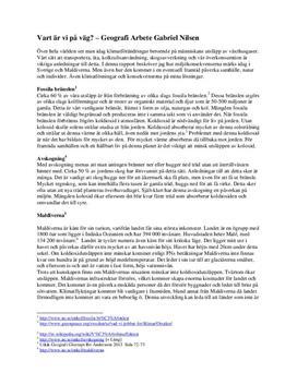 Klimatförändringar: Sveriges framtid, Maldiverna och klimatlösningar | Fördjupningsuppgift