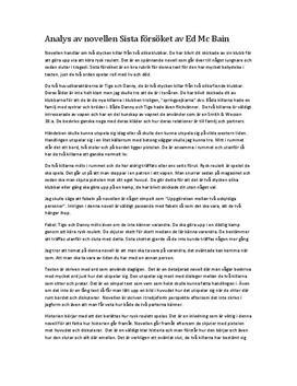 Sista Försöket av Ed McBain | Novellanalys
