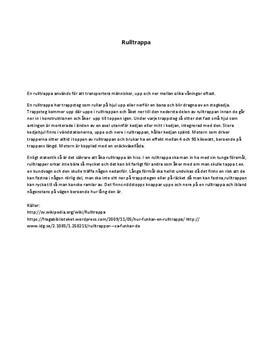 Rulltrappa | Fördjupningsuppgift