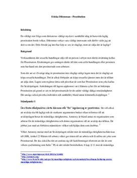 För och emot prostitution | Diskuterande text