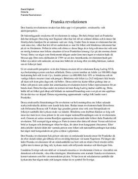 Franska revolutionens orsaker | Utredande text
