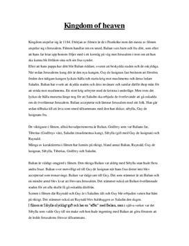 Kingdom of Heaven: Ridley Scott | Filmanalys