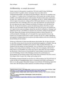 Hållbar utveckling i Jönköping | Utredande text