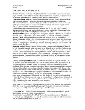 Kristendomen och bibelsyn | Analys