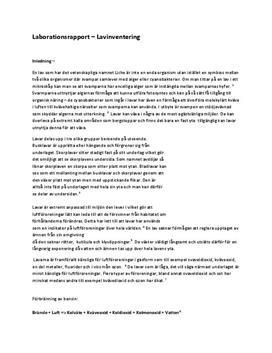 Lavinventering: Undersökning av luftföroreningar   Labbrapport