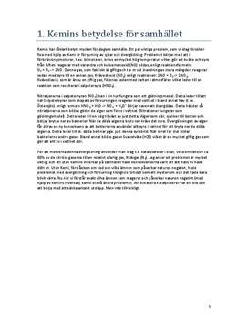 Kemi i samhället | Begreppsförklaringar | Sammanfattning