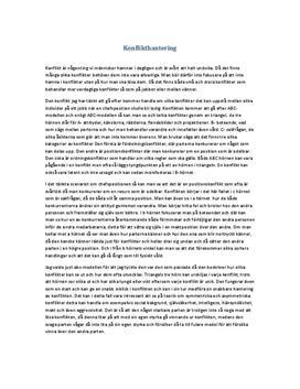 Konflikthantering med ABC-modellen | Inlämningsuppgift