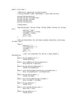 Exempel på programmering | Inlämningsuppgift
